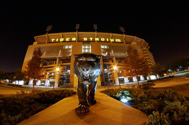 LSU Stadium Tiger Statue
